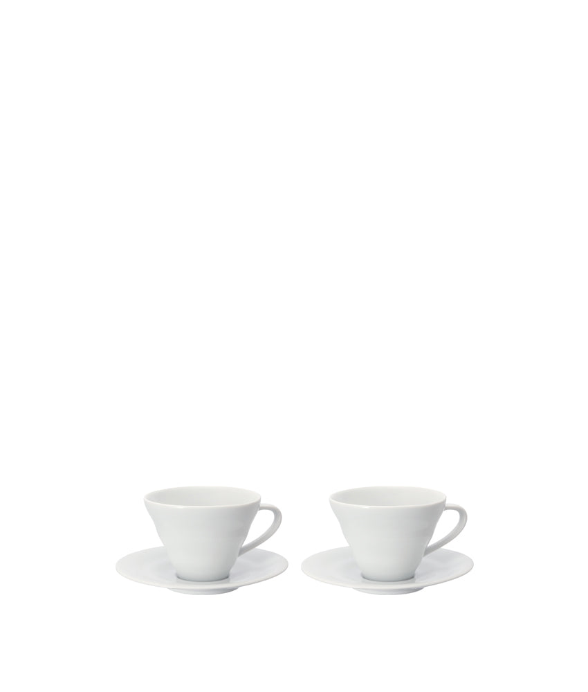 Ceramic Cup & Saucer 2 pc Set