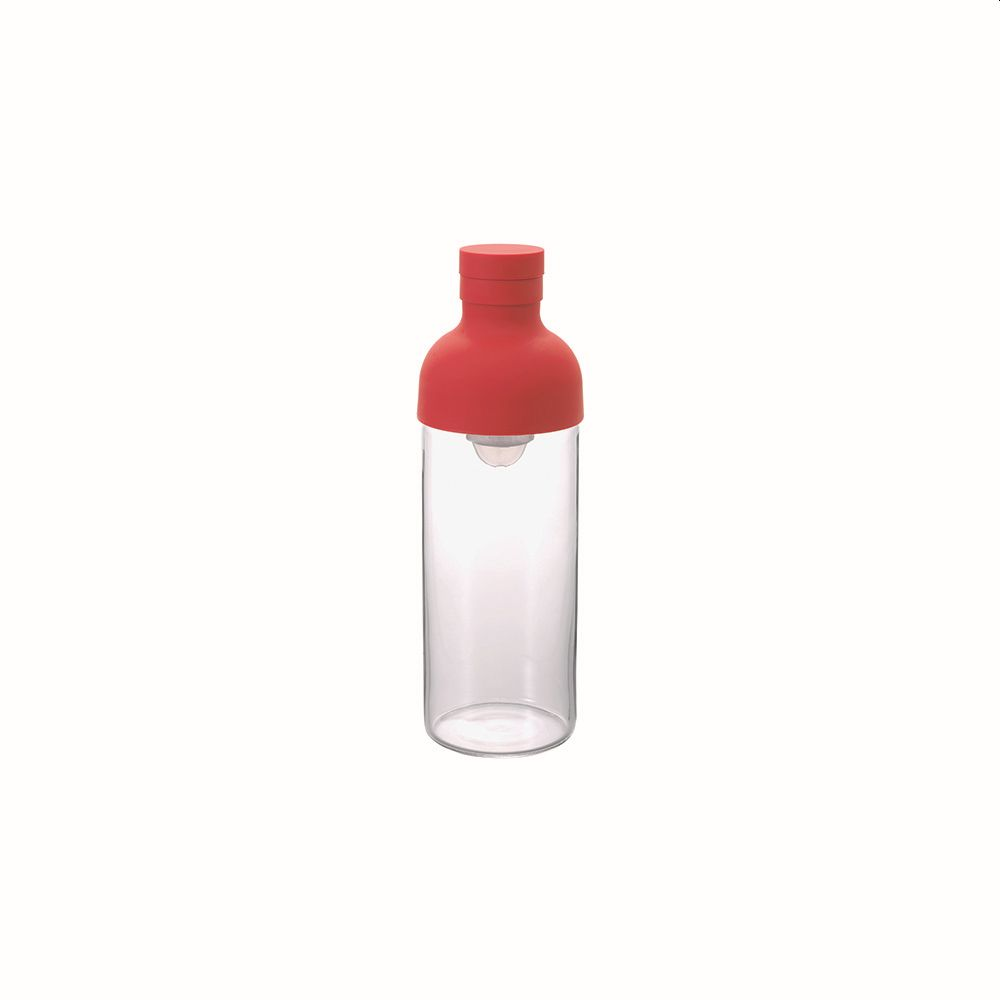 Cold Brew Tea or Water Filter-in Bottle Red 300ml