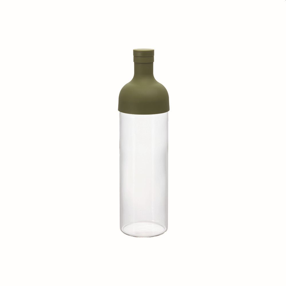 Cold Brew Tea or Water Filter in Bottle Olive Green