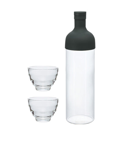 Filter in Bottle and Tea Glass Set - Black