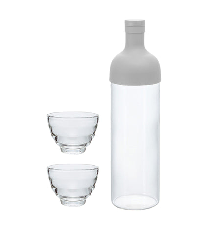Filter in Bottle and Tea Glass Set pale grey