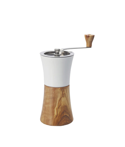 Hario Ceramic Coffee Mill Olive Wood Hand Grinder