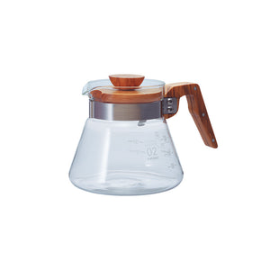 Hario V60 Glass Coffee Server 02 Olive Wood 600ml