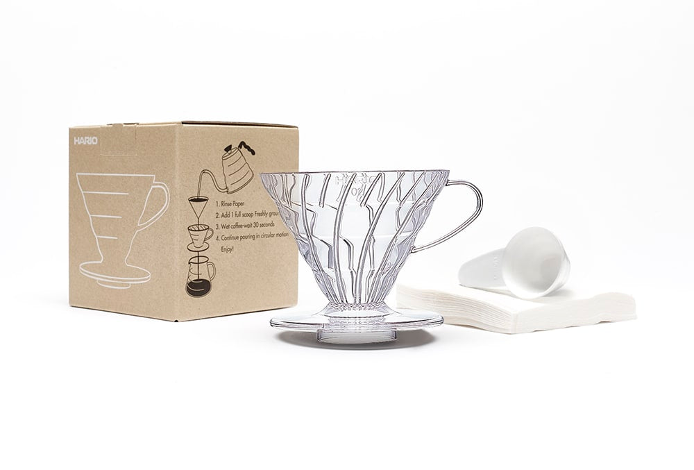 Hario V60 Coffee Dripper Set Transparent - Size 02
