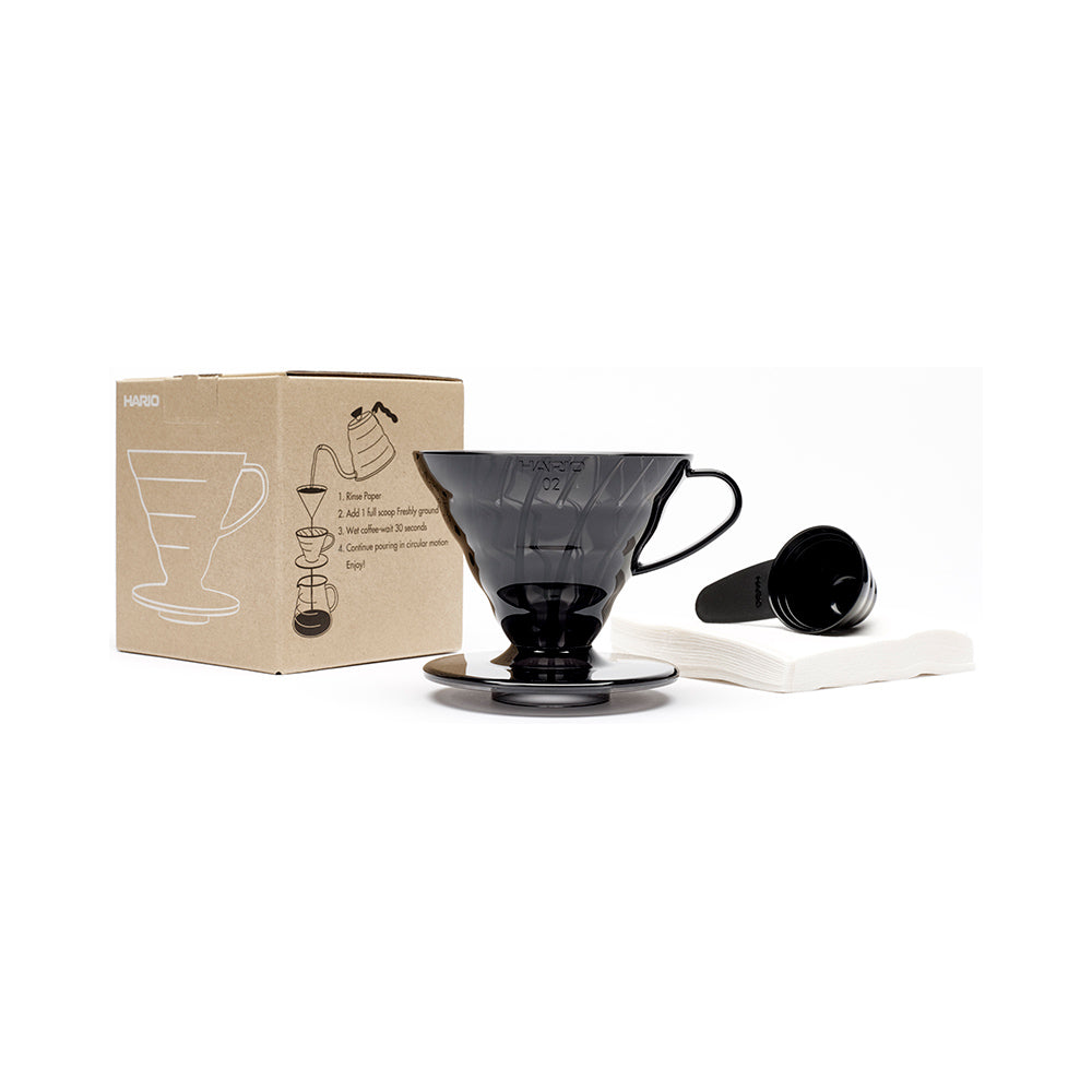 V60 Dripper set Transparent Black