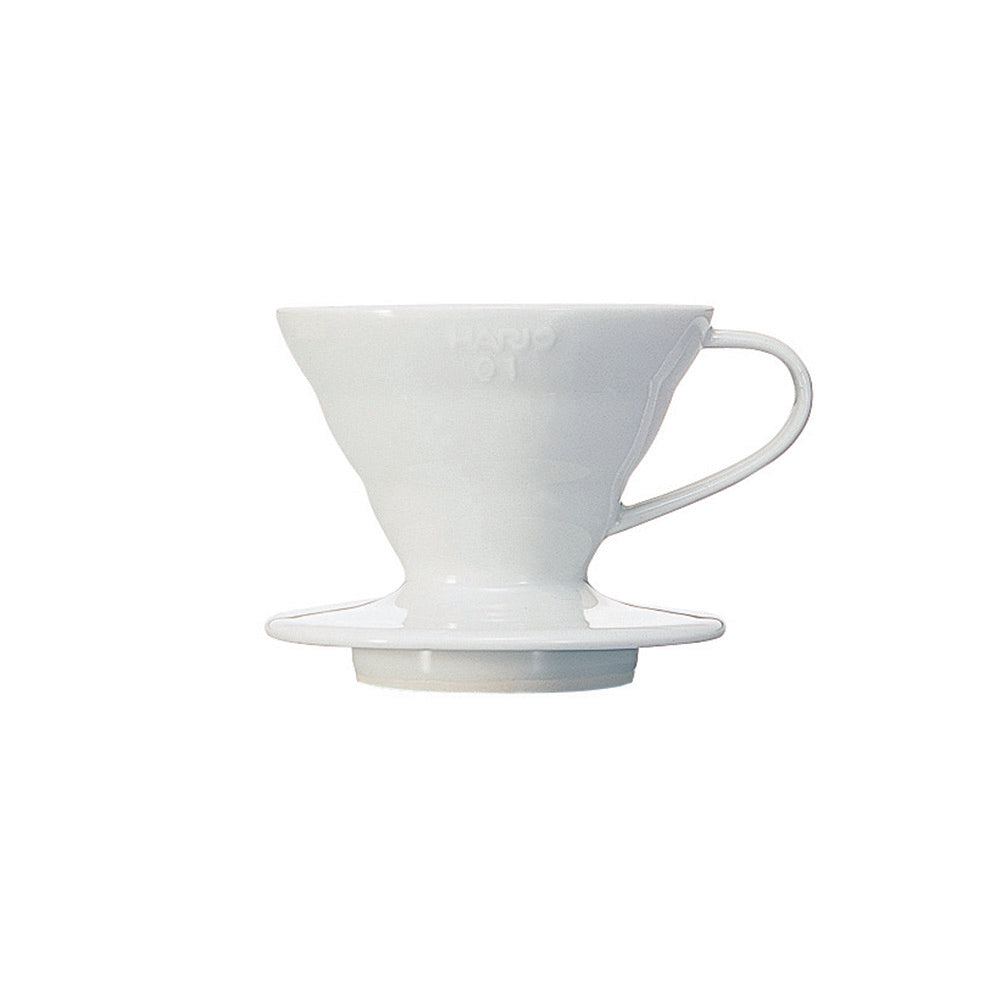 V60 Ceramic Coffee Dripper White 01Hario V60 Ceramic Coffee Dripper White - Size 01