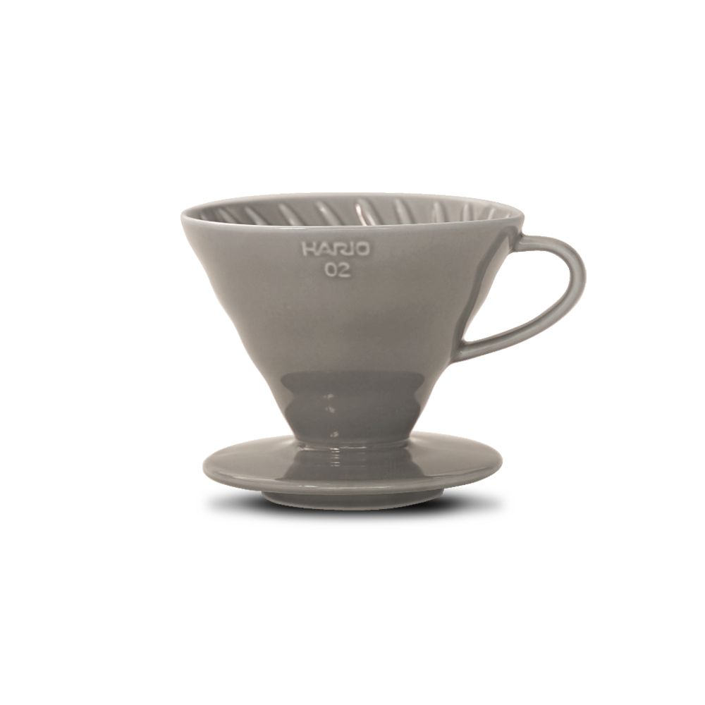 Hario V60 Ceramic Coffee Dripper Grey - Size 02