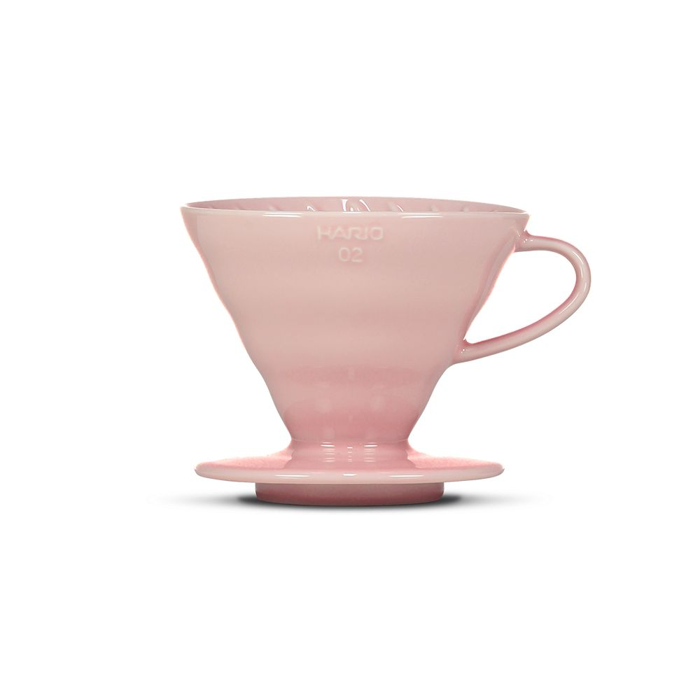 Hario V60 Ceramic Coffee Dripper Pink - Size 02