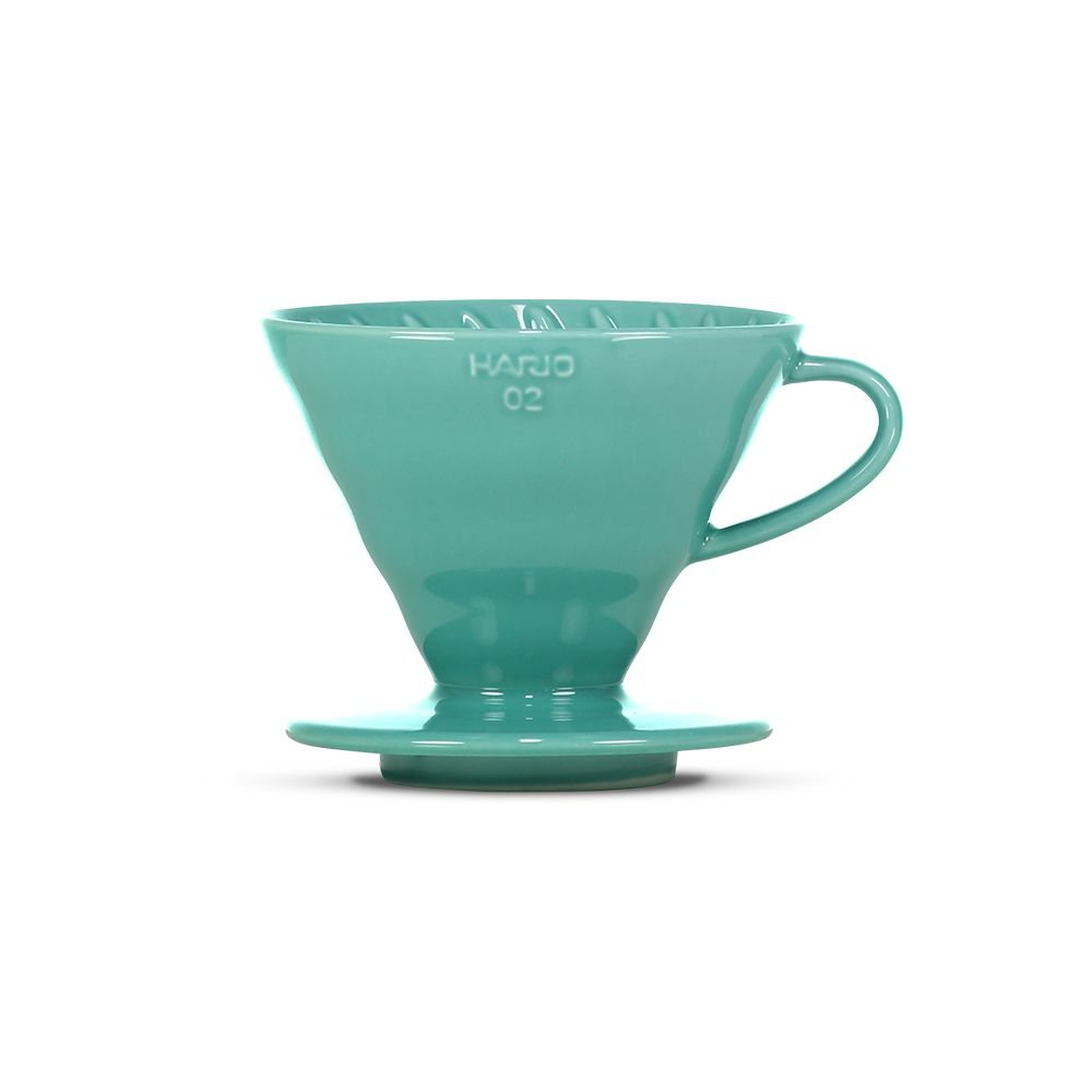 Hario V60 Ceramic Coffee Dripper Turquoise - Size 02