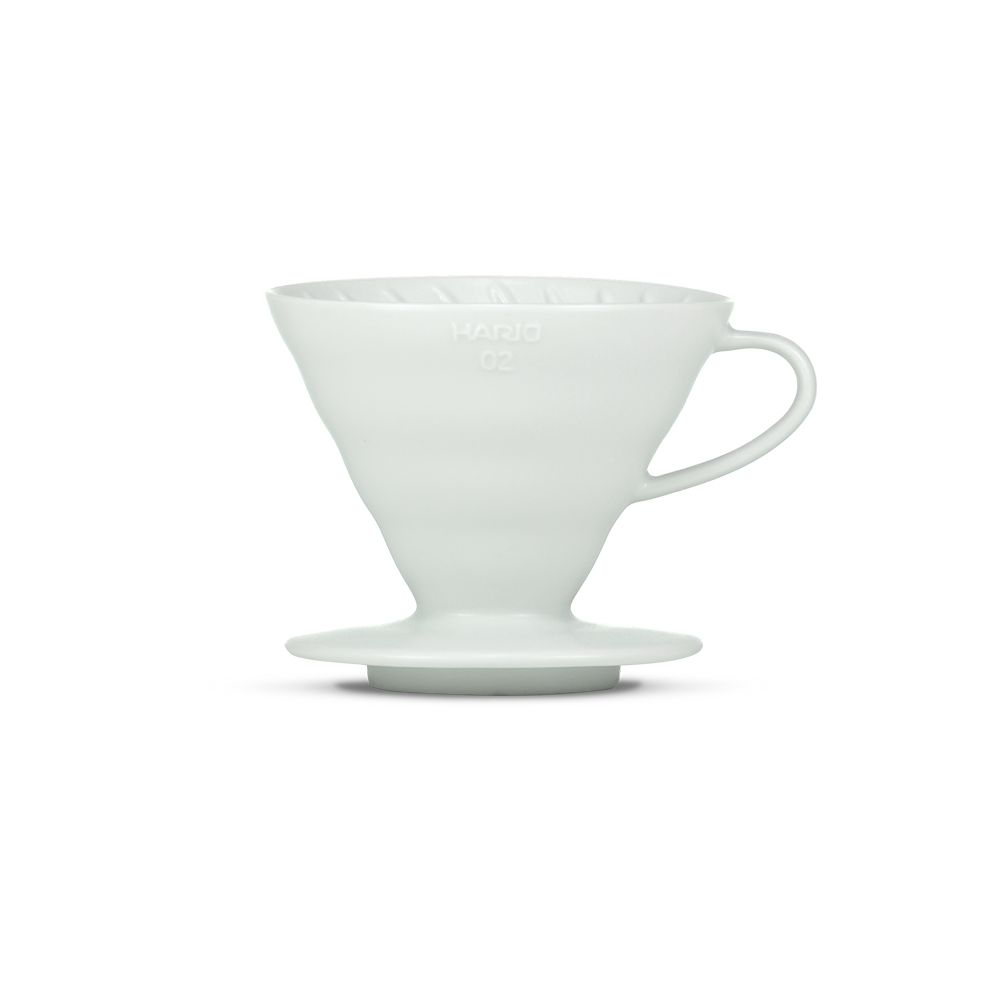 Hario V60 Ceramic Coffee Dripper Matte White - Size 02