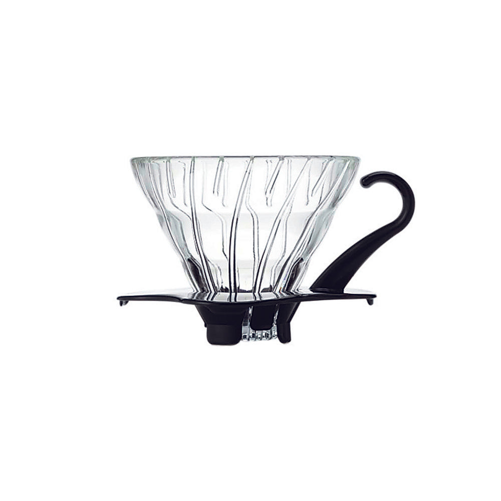 V60 Glass Coffee Dripper Black 01