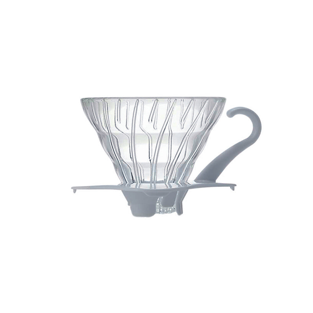 V60 Glass Coffee Dripper White 01