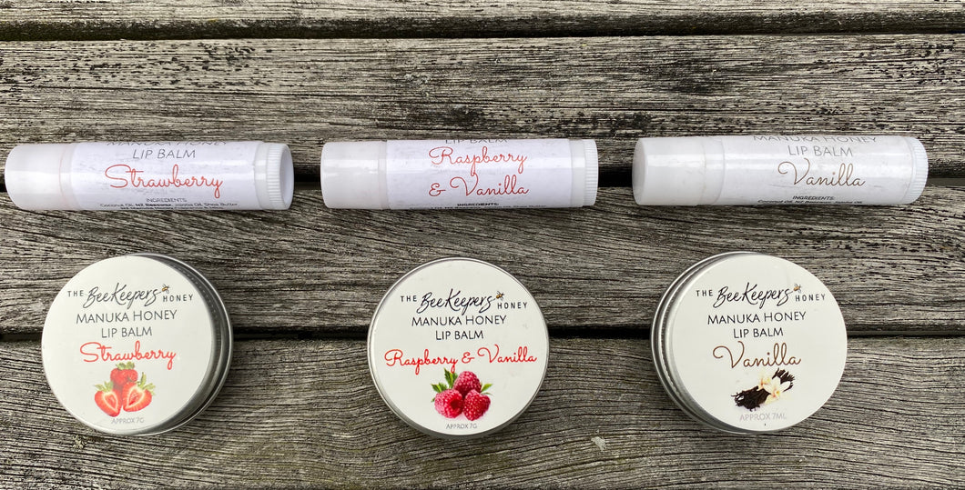 Manuka Honey Lip Balms - Available in Tins or convenient sticks