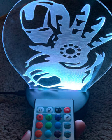 Custom made Nightlight | Remote controlled LED base | Engraved acrylic