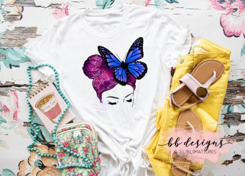Butterfly Girl Tattoo Tee | Art by Prescilla Lants Tattoo