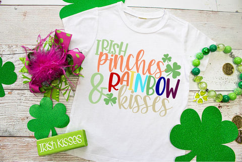 St. Patrick's Day shirt | Irish pinches Tee and Rainbow Kisses