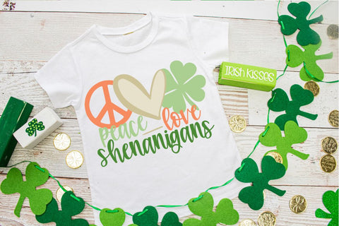 St. Patrick's Day shirt | Peace Love Shenanigans Tee