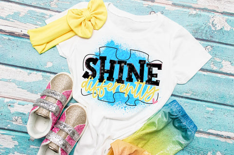 Shine differently Shirt | Autism awareness Tee