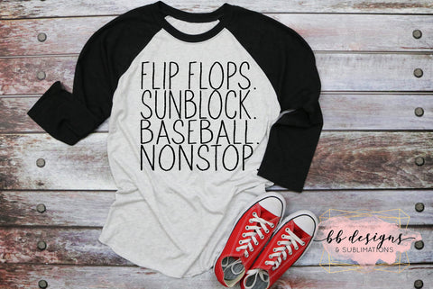 Baseball Tee | NonStop Baseball Shirt | Baseball Family T-shirt