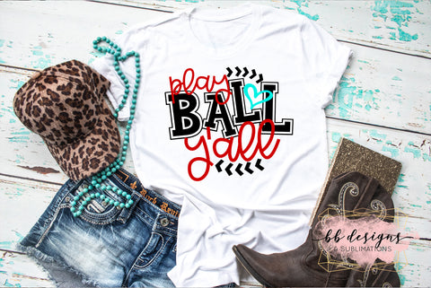 Play Ball Y'all Tee | Baseball Shirt | Softball T-shirt