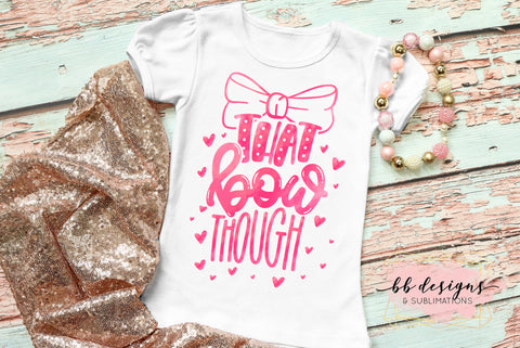 That Bow Though Tee | Big Bow Shirt | Girly T-shirt