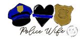 Police Wife Shirt | Thin Blue Line | Leo | First Responder