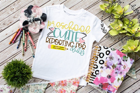 Preschool Cutie Tee | Back to School Shirt