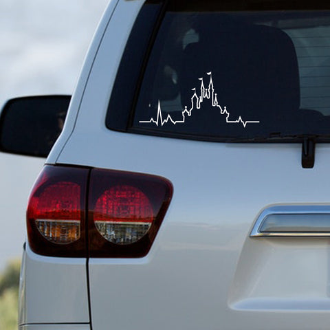 Disney Castle Inspired Heartbeat Decal