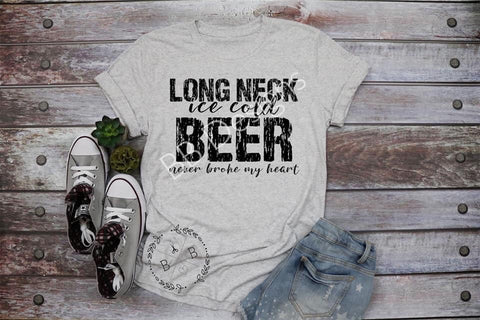 Long Neck Ice Cold Beer Adult Tee | Sports Design
