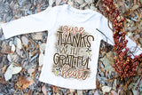 Give Thanks With A Grateful Heart Kids Tee | Thanksgiving Design
