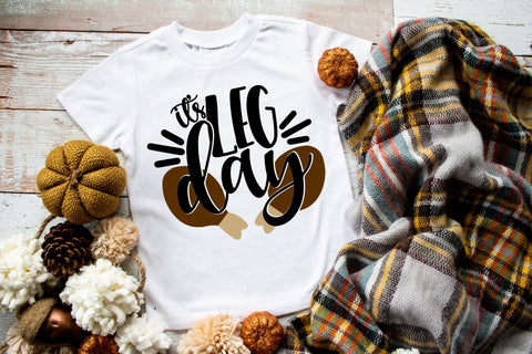 It's Leg Day Funny Kids Tee | Thanksgiving Design