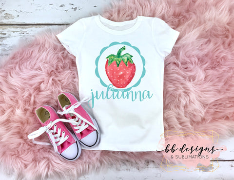 Personalized strawberry Tee | girly Strawberry Shirt