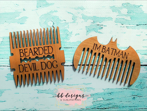 Custom Beard Comb | Personalized Beard Grooming Tool | Engraved Wooden Beard Accessories