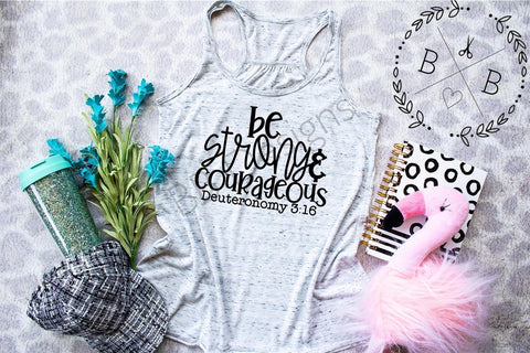 Be Strong & Courageous Tee | Christian Shirt