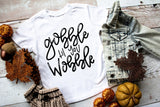Gobble Til You Wobble Baby Tee | Thanksgiving Design