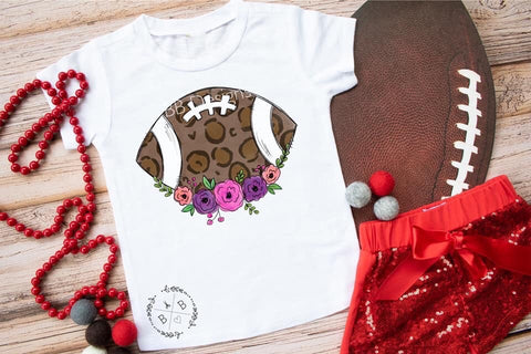 Floral Football Kids Tee | Sports Design