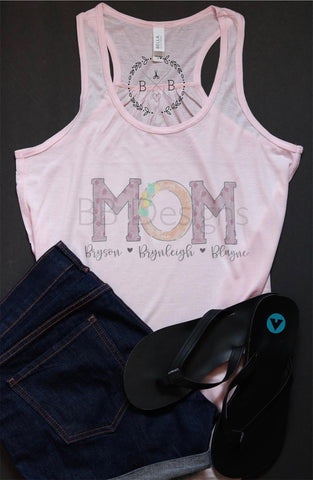 Mom with Kids Names Shirt | Personalized Tee