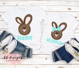 Girl Bunny Easter shirt | Personalized Tee