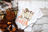 Give Thanks Unto The Lord Kids Tee | Thanksgiving Design