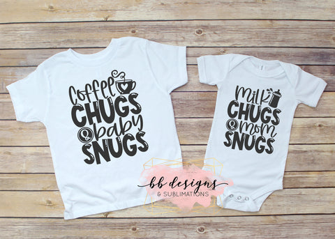 Mommy and Me Shirts | coffee chugs and baby snugs