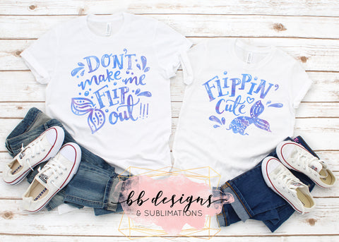 Mommy and Me Shirts | WATERCOLOR | Mermaid Tees