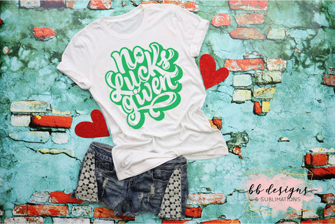 St. Patrick's Day shirt | Adult St. Patty's Tee | No Lucks Given