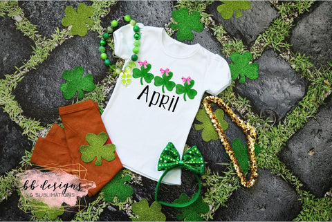 St. Patrick's Day shirt | Girly Clovers | Personalized Tee