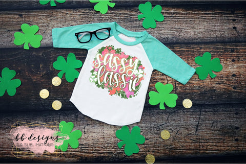 St. Patrick's Day shirt | Sassy Lassie with background Tee