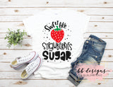 Sweet Like Sugar Tee | Strawberry Shirt