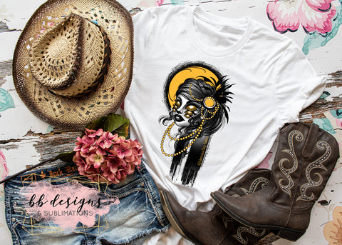Six Eyed Woman Tattoo Tee | Art by Veronica Dey Tattoo