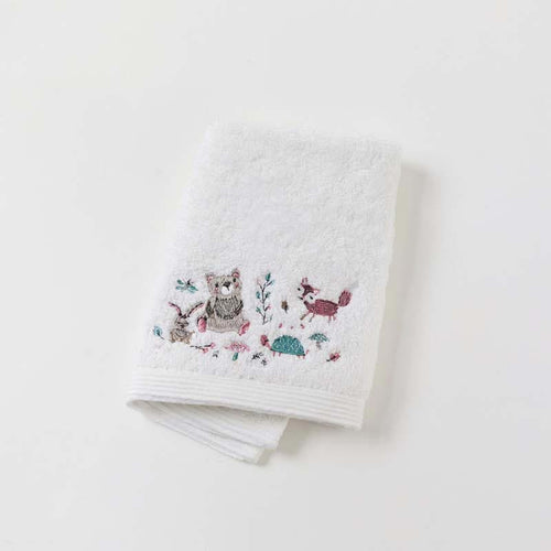 Woodlands Baby Embroidered Face Washer
