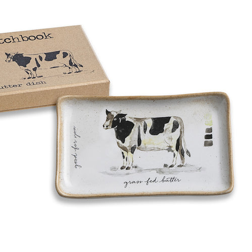 Farm to Table Cow Butter Dish