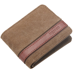 Troop London Colorado Canvas Wallet Brown