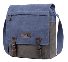 Load image into Gallery viewer, Troop London Stockholm Satchel Blue/Grey Bag